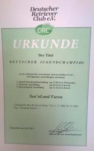 Sea'nLand Faron - Deutscher Jugend Champion DRC